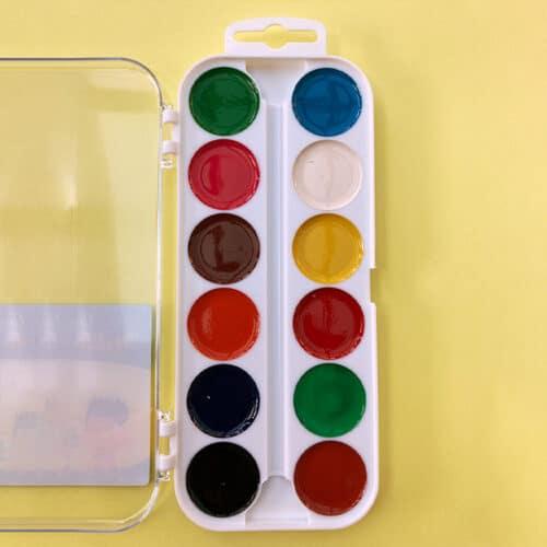 Wasserfarben-Kasten, offen