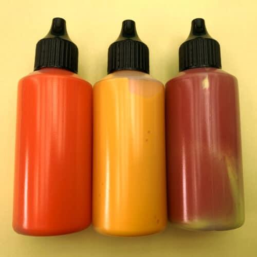 Flüssigfarben, Orange
